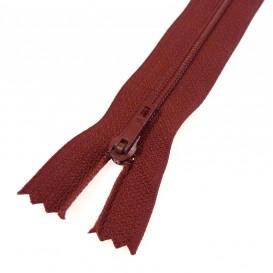 fermeture éclair prestil pantalon rouge foncé