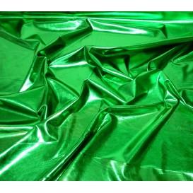 tissu lamé stretch vert largeur 147cm x 50cm