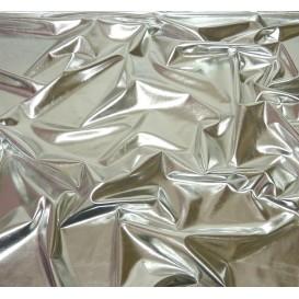 tissu lamé stretch argent largeur 147cm x 50cm