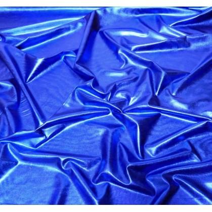tissu lamé stretch bleu roi largeur 147cm x 50cm