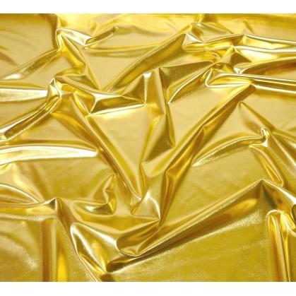 tissu lamé stretch or largeur 147cm x 50cm