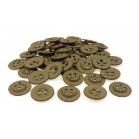 Lot 50 boutons ronds noisette 18mm