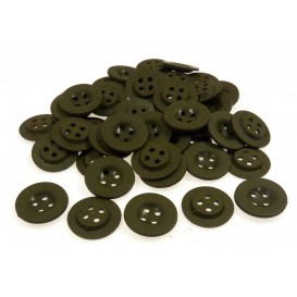 Lot 50 boutons ronds kaki 18mm