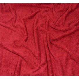 tissu éponge bordeaux largeur 160cm x 50cm