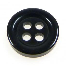 bouton 4 trous rond noir 11mm