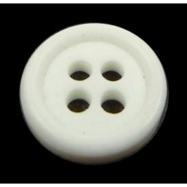 bouton 4 trous rond blanc cassé 11mm