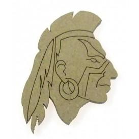 sujet en bois tête indien