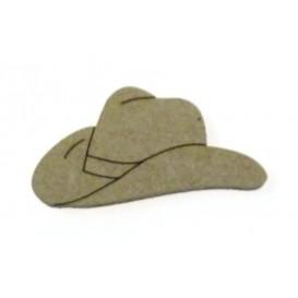 sujet en bois chapeau cowboy