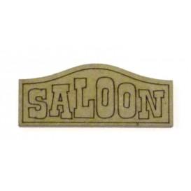 sujet en bois western panneau saloon