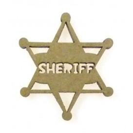 sujet en bois étoile shériff
