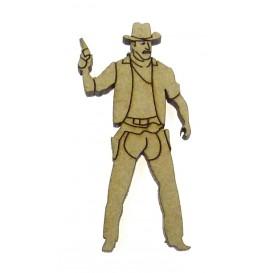 sujet en bois western cowboy