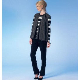 patron gilet, veste, hauts, jupe, pantalon McCall's M7059