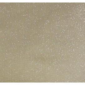 tissu simili cuir swaro gris paillette largeur 138cm x 50cm