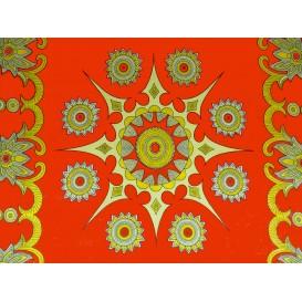 tissu africain wax soleil orange largeur 113cm x 50cm
