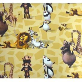 tissu coton madagascar jaune largeur 140cm x 50cm