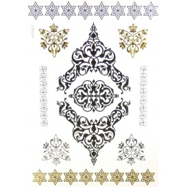 tatouages temporaires metallic tattoos arabesques frises