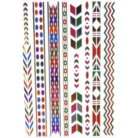 tatouages temporaires metallic tattoos frises couleur n°3