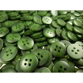 Lot 50 boutons ronds vert marbré 15mm