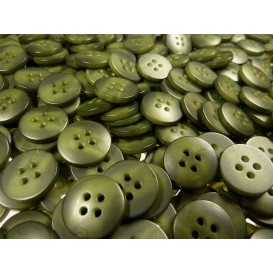 Lot 50 boutons ronds kaki marbré 15mm