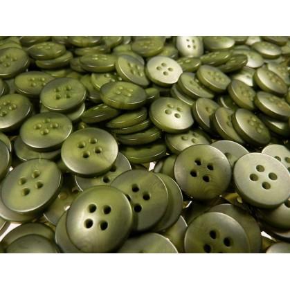 Lot 50 boutons ronds kaki marbré 15mm