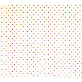 tissu stenzo popeline blanc pois 5mm largeur 147cm x 50cm