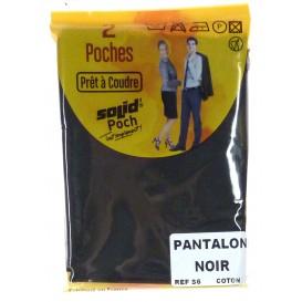 2 poches de pantalon noir à coudre