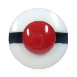bouton enfant fantaisie chapeau marin blanc 12mm
