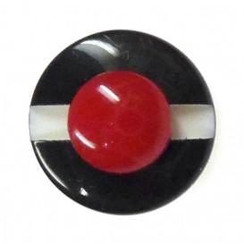 bouton enfant fantaisie chapeau marin noir 12mm
