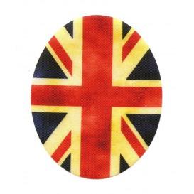 2 coudes fantaisie drapeau anglais thermocollant