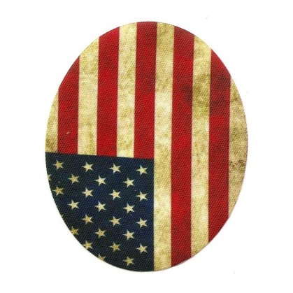 2 coudes fantaisie drapeau americain thermocollant