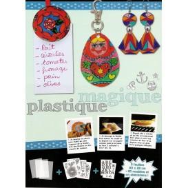 kit 3 feuilles plastique magique translucides