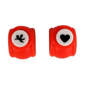 2 perforatrices coeur et ange 1cm