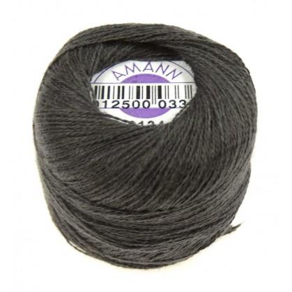 fil à repriser amann 100% coton gris foncé 20m