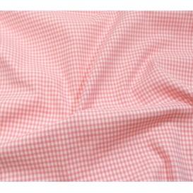 tissu vichy 2mm rose largeur 140cm x 50cm