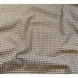 tissu vichy 2mm marron largeur 140cm x 50cm