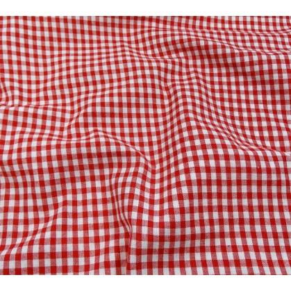 tissu vichy 4mm rouge largeur 140cm x 50cm