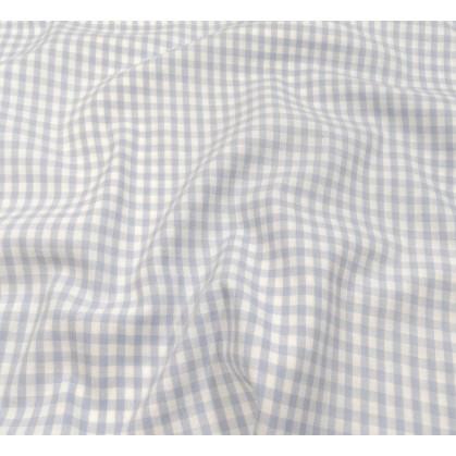 tissu vichy 4mm bleu ciel largeur 140cm x 50cm