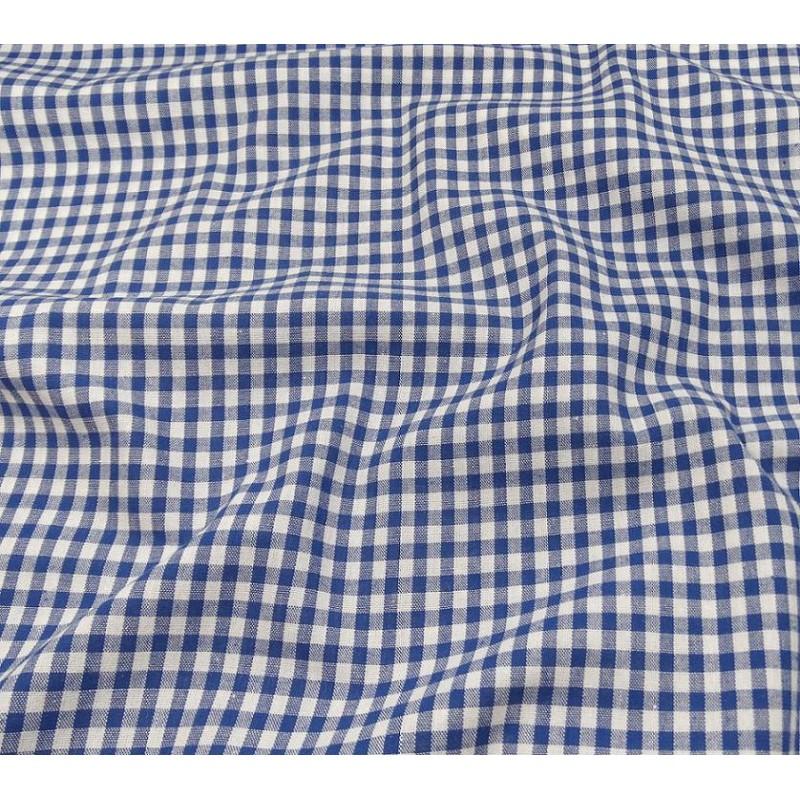 tissu vichy 4mm bleu largeur 140cm x 50cm. Black Bedroom Furniture Sets. Home Design Ideas