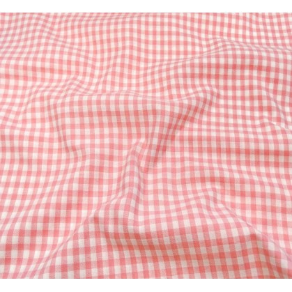 tissu vichy 4mm rose largeur 140cm x 50cm