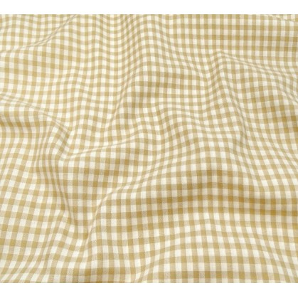 tissu vichy 4mm beige largeur 140cm x 50cm