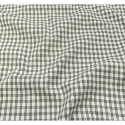 tissu vichy 4mm gris largeur 140cm x 50cm