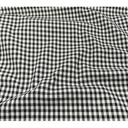 tissu vichy 4mm noir largeur 140cm x 50cm
