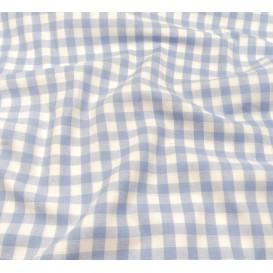 tissu vichy 10mm bleu ciel largeur 147cm x 50cm