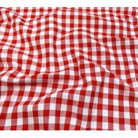 tissu vichy 10mm rouge largeur 147cm x 50cm