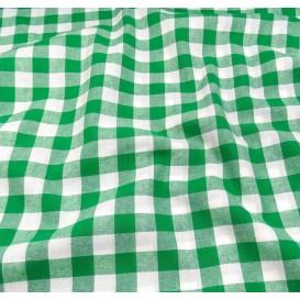 tissu vichy 18mm vert largeur 140cm x 50cm
