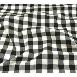 tissu vichy 18mm noir largeur 140cm x 50cm