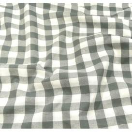 tissu vichy 18mm gris largeur 140cm x 50cm