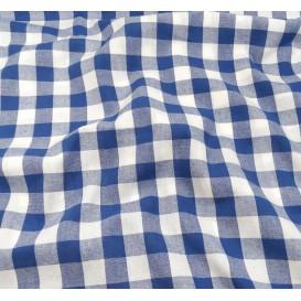 tissu vichy 18mm bleu largeur 140cm x 50cm