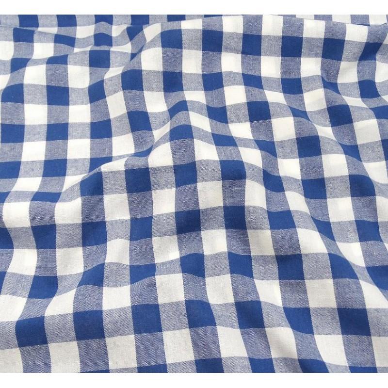 tissu vichy 18mm bleu largeur 140cm x 50cm. Black Bedroom Furniture Sets. Home Design Ideas