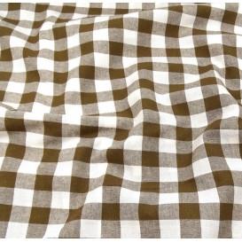 tissu vichy 18mm marron largeur 140cm x 50cm